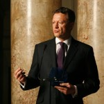 """Octavian Morariu, President of the Romanian Olympic and Sports Committee is the recipient of the """"Values Based Leadership"""" Award at the Aspen Leadership Gala 2012"""