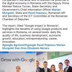 Marian Murguleţ: Google supports businesses in Romania generate around USD 1 billion in a year in economic activity