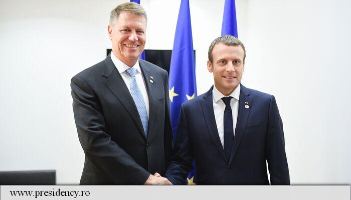 Klaus Iohannis: Am avut o întâlnire foarte bună cu Macron; am discutat despre Schengen